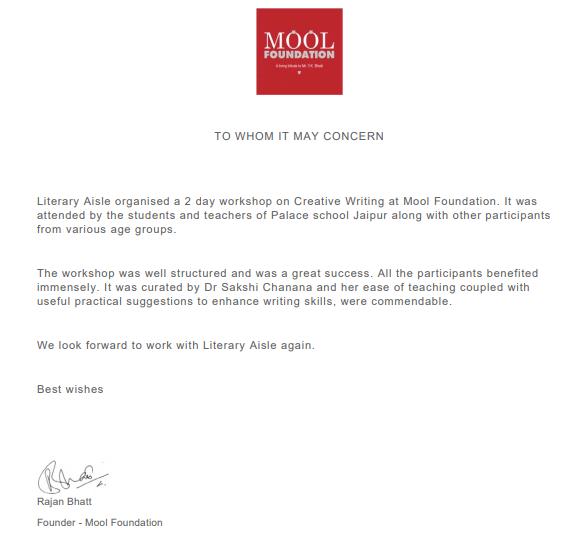 Testimonial Mool Foundation